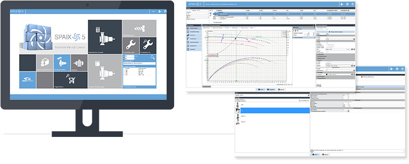 Spaix 5 - Pump Selection Software for Web + Desktop
